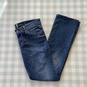7 for all mankind the Lexie Straight leg 25 petite